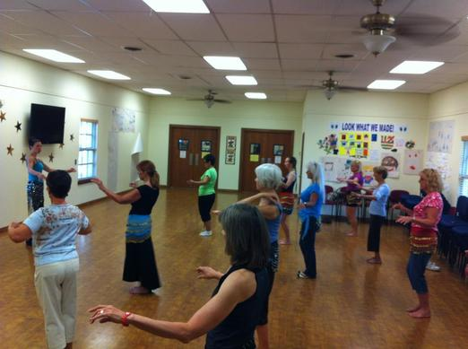 Belly Dance class at the Hood County Library